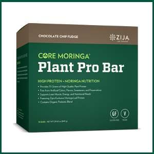 zija core moringa vegan plant pro bar - plant based protein bar