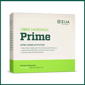 zija core moringa prime nitric oxide activator - helps maintain healthy and normal cardiovascular performance, supports normal blood flow and cardiovascular longevity, promotes oxygen and nutrient delivery to cells
