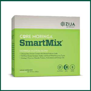 zija core moringa smartmix enhanced prebiotic support with chicory root extract providing inulin which supports a healthy digestive tract and promotes feelings of fullness, foti root extract increases vitality and mood and supports the body in its natural cleansing process